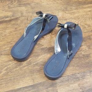 Guess Tutu Bow Flip Flops - Blue